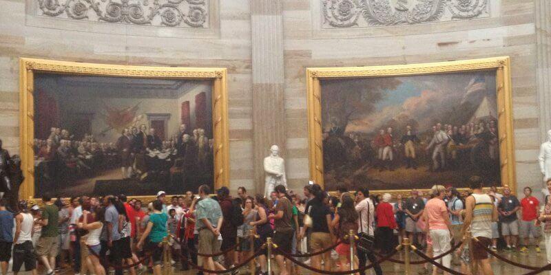 Touring the Capitol Building, Washington DC
