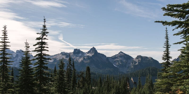 Mountains on American Northwest Road Trip