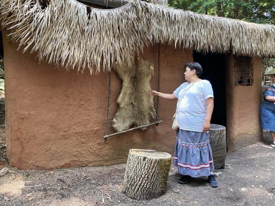 Oconaluftee dwelling in the village