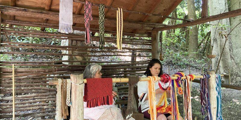 Oconaluftee village with kids