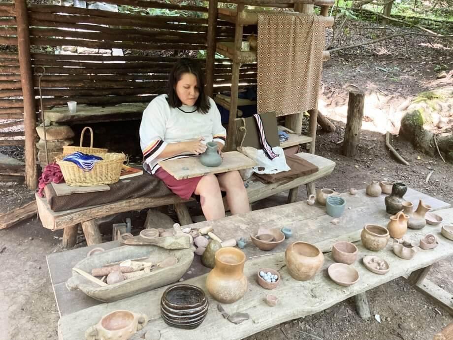 Oconaluftee Pottery Craft Area
