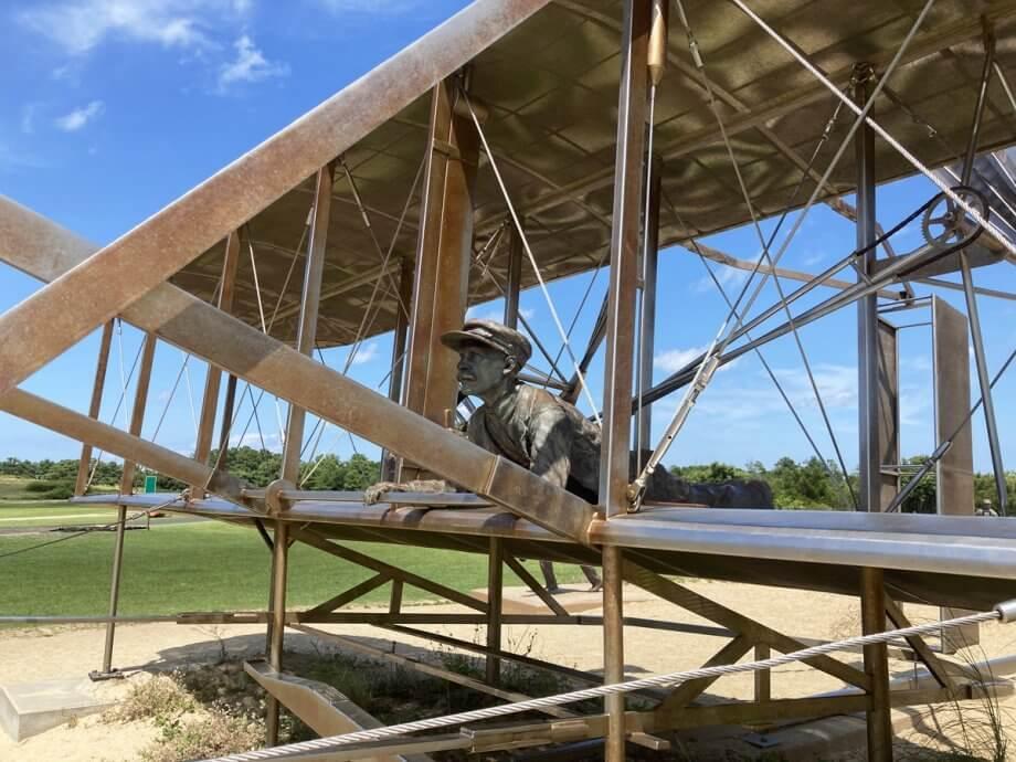 Wright Centennial Sculpture with Kids