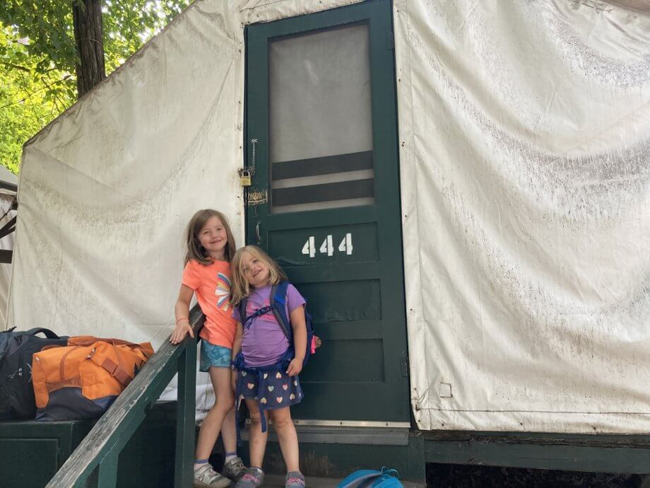 Curry Village Tent with kids
