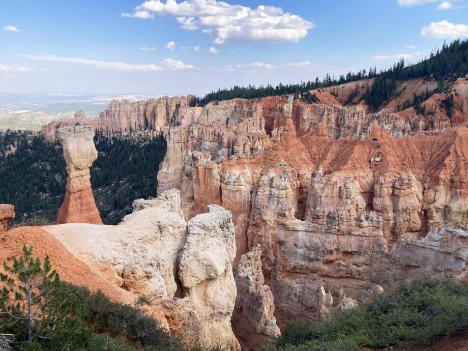 Overlook along the Rainbow Point Road in Bryce Canyon with Kids