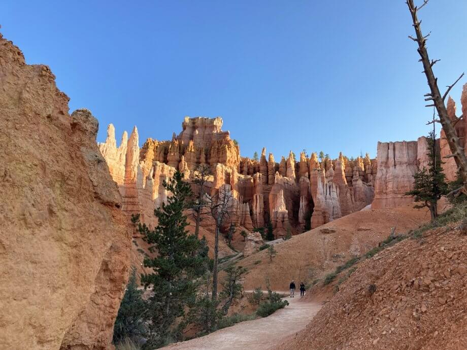 Base of Bryce Canyon hiking the Queen's Garden Trail with kids