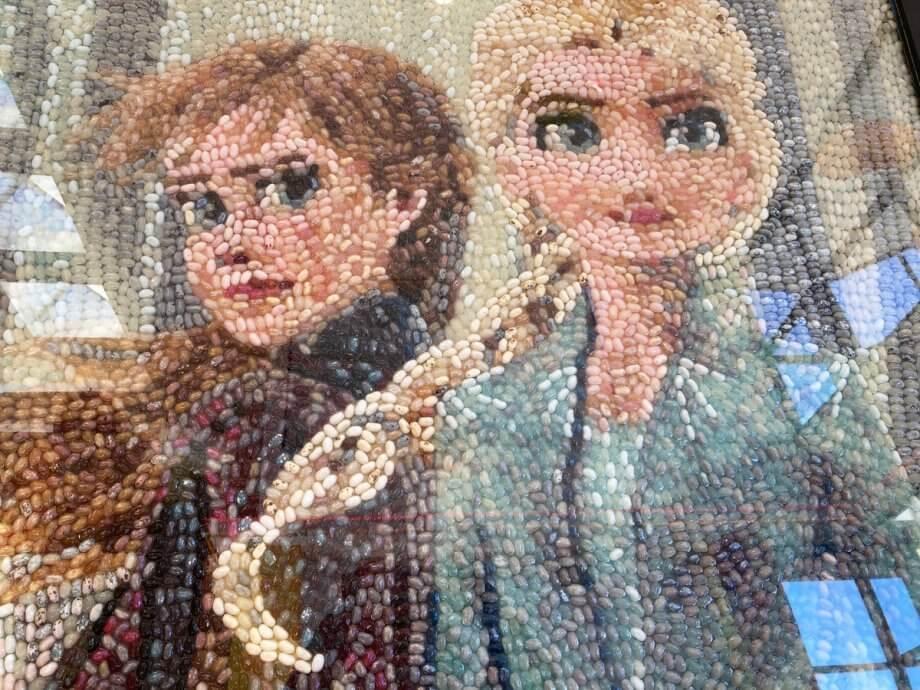 Frozen Characters in Jelly Belly Art
