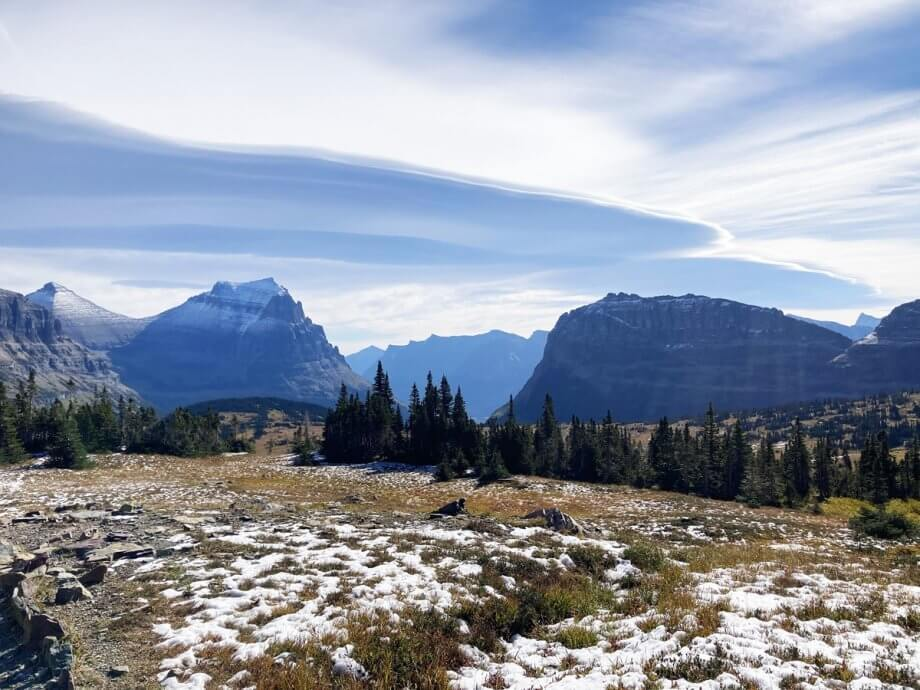 View from Hidden Lake in Glacier National Park with Kids