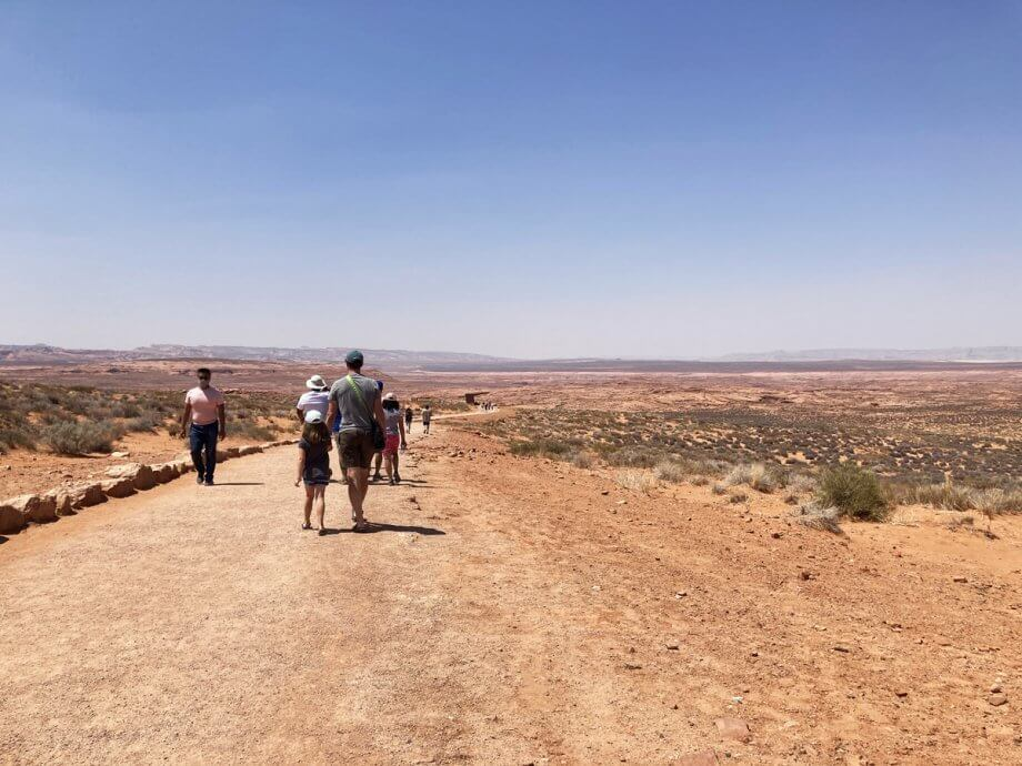 Path to Horseshoe Bend Overlook