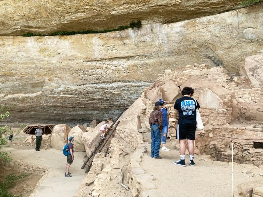 Step House at Mesa Verde with Kids